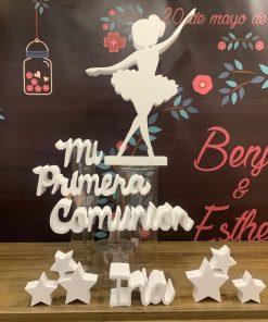 bailarina comuniones corcho blanco