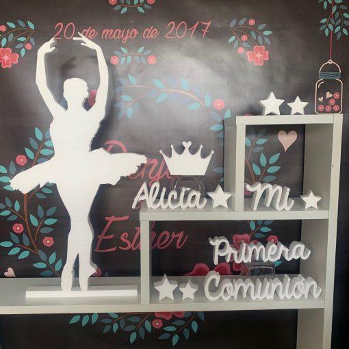 ballet bailarina corcho blanco