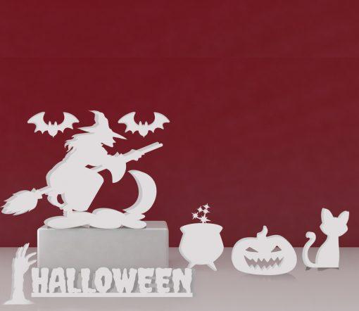halloween brujas corcho blanco