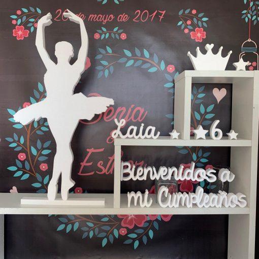 Bailarina Bienvenido a mi cumpleaño
