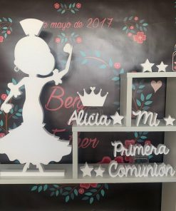 bailarina flamenco con peineta fabricadas corcho blanco alta resistencia